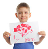 Drawing for mum Stock Photos