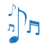 Drawing music note sound melody symbol Royalty Free Stock Image