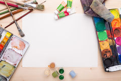 Drawing objects. Different objects, related to painting and drawing Stock Photo