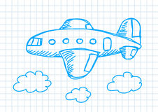 Drawing Of Aircraft Stock Photography
