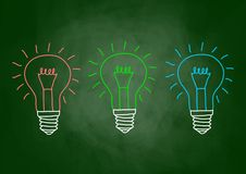 Free Drawing Of Light Bulb Royalty Free Stock Photo - 27867035