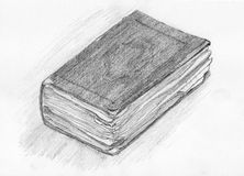 Drawing of a old book Stock Photography