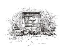 Drawing of old cellar Stock Images