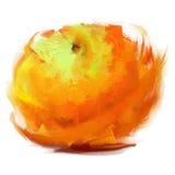 Drawing orange Stock Image