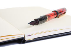 Drawing Pad with Fountain Pen Royalty Free Stock Photography