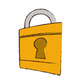 drawing padlock lock security money bank Royalty Free Stock Photo