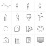 Drawing and painting tools icons  2 Royalty Free Stock Photography