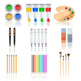 Drawing And Painting Tools Royalty Free Stock Images