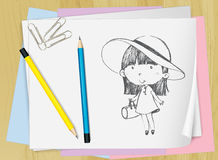 Drawing on paper Stock Photo