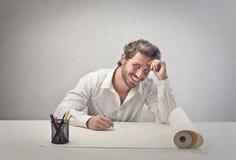 Designer smiling Stock Photo