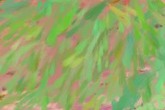Drawing in pastel colours. Green unique brush strokes. Illustration vector illustration