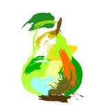 Drawing pear Royalty Free Stock Images