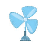 Drawing pedestal fan electronic domestic appliance Royalty Free Stock Photography