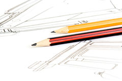 Drawing and pen Stock Photography
