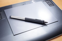 Drawing pen and table Stock Image