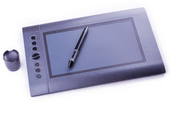 Drawing pen tablet isolated Stock Photography