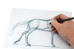 Drawing pencil Royalty Free Stock Images