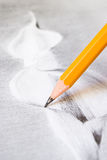 Drawing with pencil Royalty Free Stock Photography