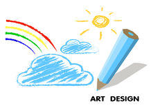 Drawing  pencil. art design Stock Images