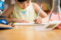 Drawing with pencil Royalty Free Stock Photo