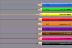 Drawing pencils Stock Images