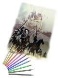 Drawing pencils Royalty Free Stock Image
