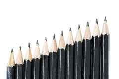 Drawing pencils in row Royalty Free Stock Photos