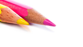Drawing Pencils On A White Background Royalty Free Stock Photo