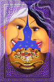 Oriental  tale. Beauty.  Royalty Free Stock Photos