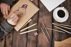 Drawing a picture Royalty Free Stock Images