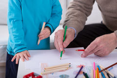 Drawing picture together Stock Image