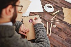 Drawing pictures Royalty Free Stock Photos