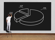 Drawing pie chart Royalty Free Stock Images