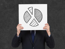 Drawing pie graph Stock Photo