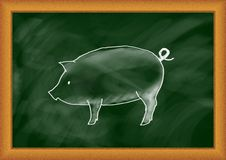 Drawing of pig Royalty Free Stock Photo