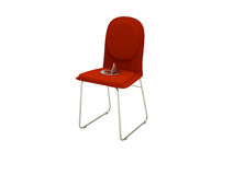 Drawing pin chair Royalty Free Stock Photography