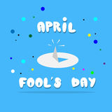 Drawing Pin First April Fool Day Happy Holiday. Flat Vector Illustration Royalty Free Stock Photo