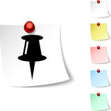 Drawing-pin  icon. Royalty Free Stock Image