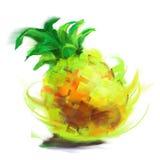 Drawing pineapple Stock Image