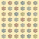 Drawing pins gift card or cloth,npattern, repeating pattern, Royalty Free Stock Image