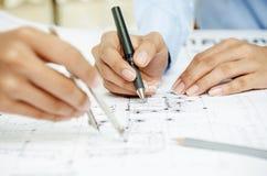 Drawing plan Royalty Free Stock Photos