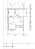 Drawing of the plan of the second floor private 2 floor houses Royalty Free Stock Photos