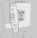 The drawing of the plan of the second level of the private house. The drawing of the plan of the 1st level of the private house Stock Photo