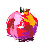 Drawing pomegranate Stock Photo