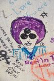 Drawing of the Prince on concrete wall Royalty Free Stock Image