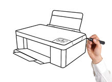 Drawing printer Stock Photo