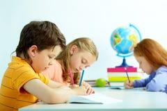 Drawing pupils Stock Photos