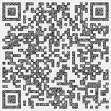 Drawing of a qr code Stock Image