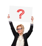Drawing question mark Stock Images