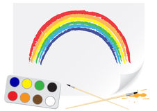 Drawing rainbow Stock Photography